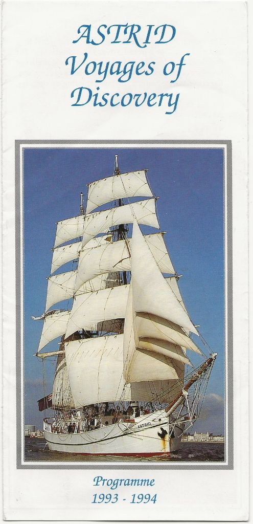 ASTRID (tall ship) 1993/94 programme