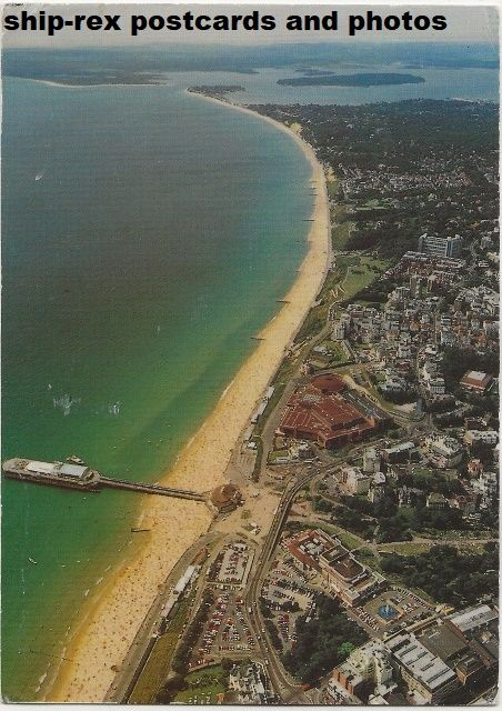 Bournemouth, aerial view - postcard
