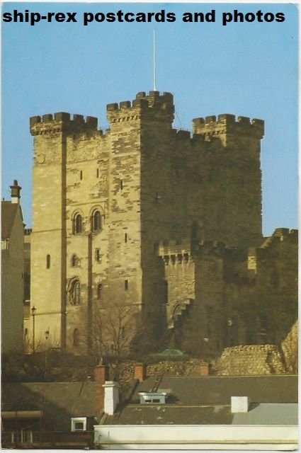 Newcastle-upon-Tyne, castle keep, postcard
