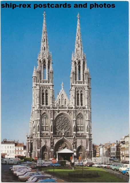 Ostend (Belgium) St Petrus and St Paulus church, postcard (b)