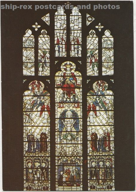 Worcester Cathedral, The Elgar Window, postcard